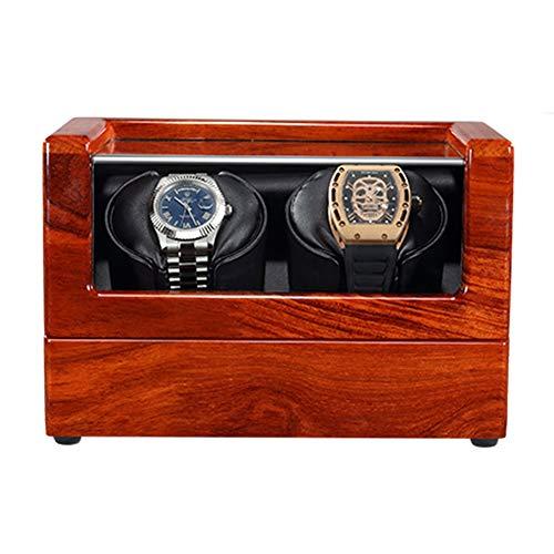Jlxl Madera Maciza Enrollador Reloj Automático Almohada Reloj Suave y Flexible Motor Silencioso Fuente Alimentación Dual 4 Configuración del Modo Rotación Accesorios (Size : 2+0)
