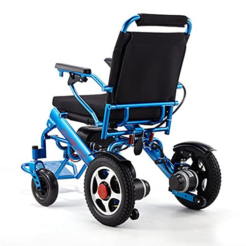 DLXYch Silla de ruedas eléctrica portátil plegable ligera, silla de ruedas asistida móvil compacta, silla de ruedas ligera de aleación de aluminio, plegable ligero y fácil embarque