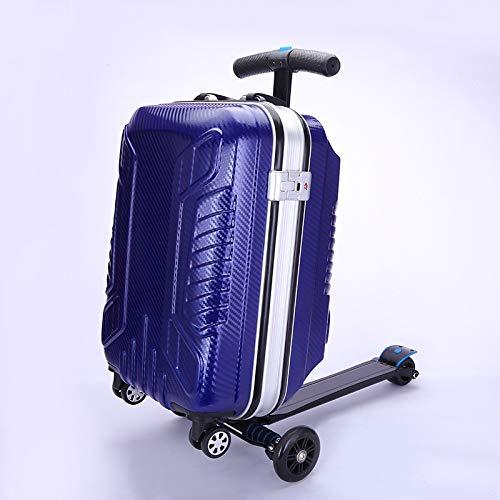 Hermoso y Conveniente Caja de Equipaje de Scooter Creativo de Moda Caja de Carretilla de Viaje de 21 Pulgadas Pull Rod Caja Maleta Maleta Caja de envío Fácil de Caminar