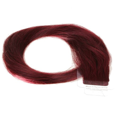 Just Beautiful Hair and Cosmetics Skin Weft Lot de 30 extensions avec bandes adhésives Mèches de 2,5 g 60 cm