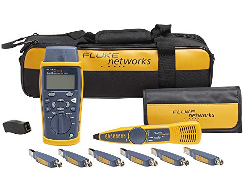 Fluke CIQ-KIT CableIQ Advanced IT Kit, CableIQ-Hauptgerät + Remote-Adapter + Tragekoffer + Remote-IDs + IntelliTone 200 Probe