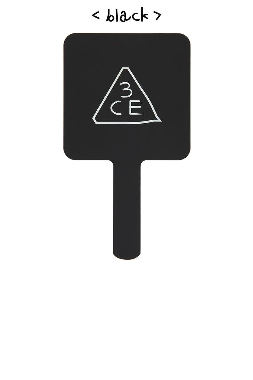 激怒普及記念品[3CE/3CONCEPT EYES] 3CE SQUARE HAND MIRROR 手鏡 ハンドミラー #BLACK