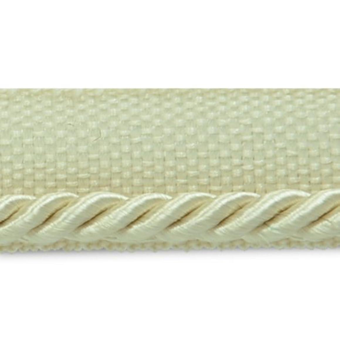 Expo International 20-Yard Ebony Twisted Lip Cord Trim Embellishment, 1/8-Inch, Ivory
