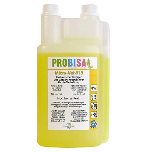 PROBISA Geruchsneutralisierer gegen Gerüche von Katzen-Urin, Hund, Nager und Haustiere (Konzentrat ergibt 50 Liter gebrauchsfertiges Bio Reinigungsmittel)