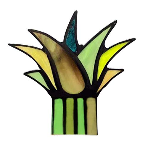 Pageantry Potted Classic Small Stained Glass Plant Decoration Garden Ornaments Real Artificial Plants Indoor Outdoor