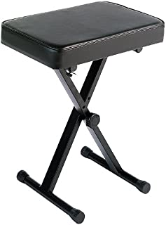Yamaha PKBB1 Adjustable Padded Keyboard X-Style Bench, black