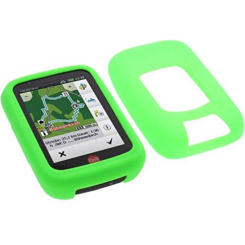 foto-kontor Tasche für Falk Tiger Geo Schutzhülle Silikon Case Schutz Hülle grün