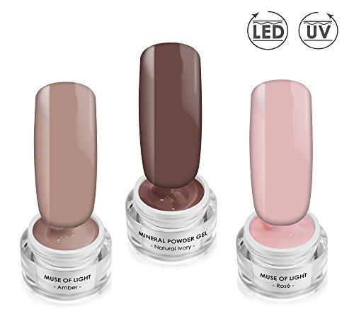UH LA LA Gel Collection SET - Color- & Effektgel - UV/LED Gel SET - 3x 5ml