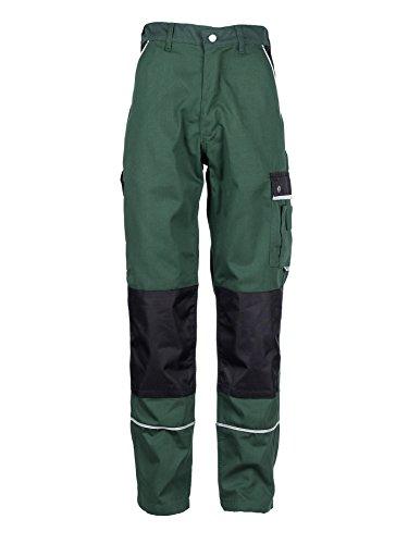 TMG® Lange Arbeitshose für Herren, Bundhose/Cargohose mit Kniepolstertaschen, Grün 48
