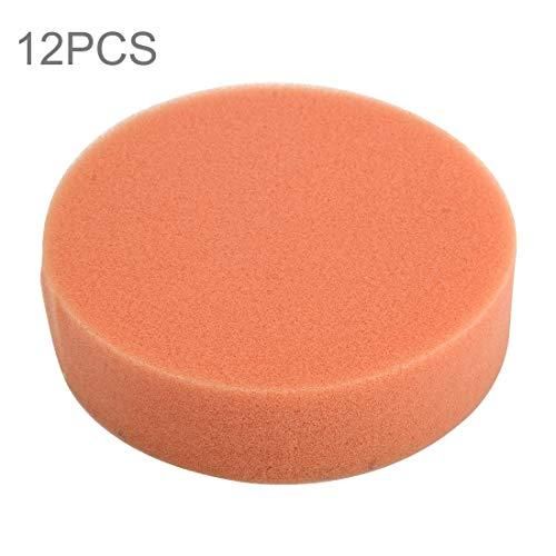 Auto-polijstspons autowax spons rond spons met hoge dichtheid, afmetingen 9,8 x 9,8 cm, 12 stuks