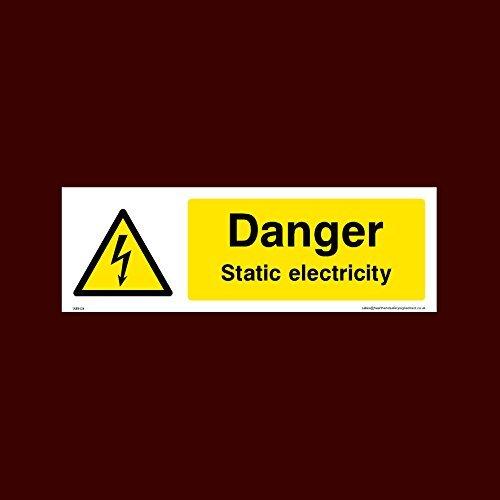 Pegatinas de vinilo autoadhesivas para señal de electricidad estática de peligro (Weh24), calcomanías divertidas de advertencia para propiedades, etiquetas adhesivas de seguridad, calcomanía de vinilo autoadhesiva