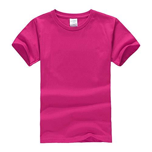 DREAMING-Camiseta De Manga Corta De Algodón Peinado para Niños Camiseta De Cuello Redondo Juvenil Ropa para Niños