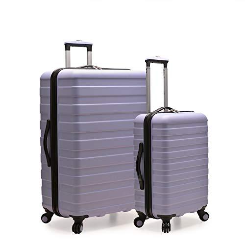 U.S. Traveler Cypress Colorful Hardside Spinner Luggage Set, Lavender, 2-Piece