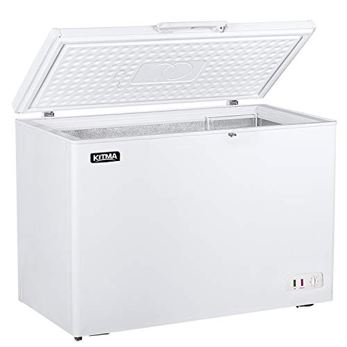 Commercial Top Chest Freezer -15.9 Cu Ft Deep Ice Cream Freezer with 2 Removable Basket, Solid Door,Low Noise & Energy Saving Deep Freezer for Groceries, Kitchen, Restaurant Home, Garage, Basement