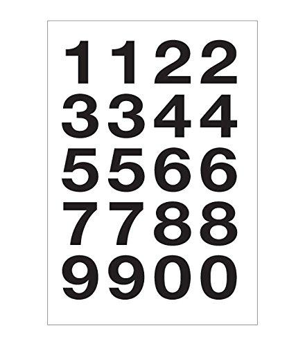 Herlitz etiketten grote letters Etiketten cijfers groot 2 Bogen 20 Stuk Zahlen groß