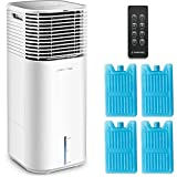 TROTEC Climatizador PAE 49, 4 en 1: Enfriamiento, Ventilación, Purificación, Humidificación, 4 niveles de ventilación, Mando a distancia IR, Temporizador