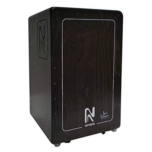 Cajón flamenco profesional NEVADA JAM-SESSION, negro traslúcido, fabricación 100{4e69c5563e9193317b16c144af1d1702f8ac9aa8074d497e0fab634f7410f656} española