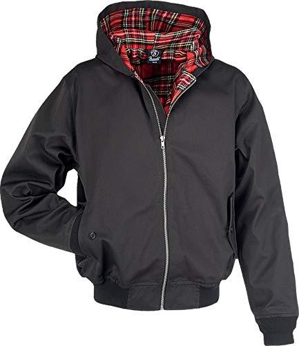 Brandit Hooded Canterbury Jacke, schwarz, Gr. XXL