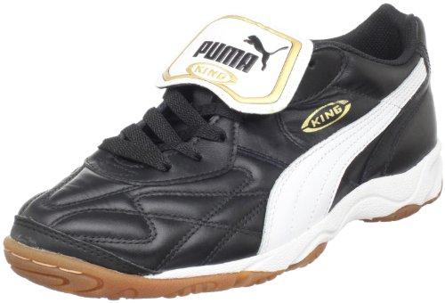PUMA Men's King Indoor IT Soccer Shoe,Black/White/Gold,8 D...