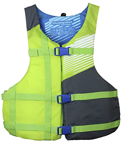 Stohlquist Fit Life Jacket/Personal Floatation Device, Adult Universal, Green/Gray