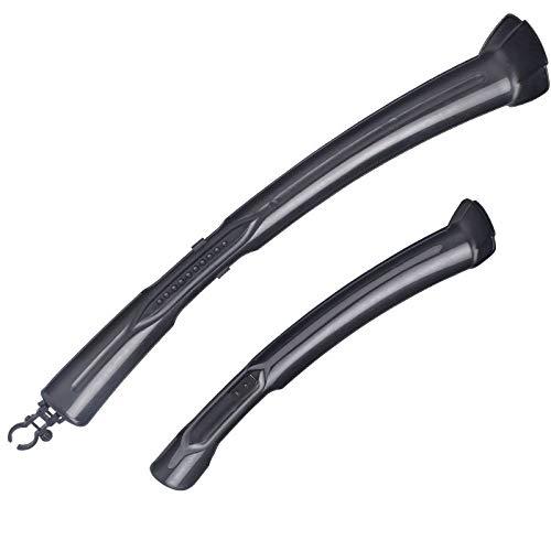 Bike Mudguards Bike Front Rear Fender Adjustable Cycliny Mudguard Set Bike Accessories For Mountain (Color : Black)