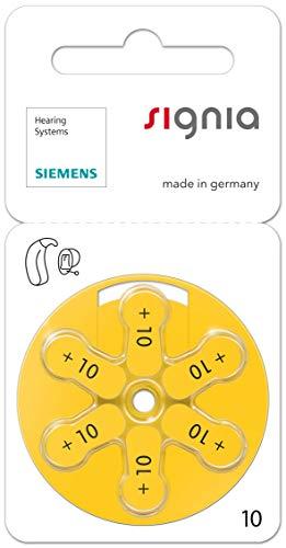 60 Stück (10 Blister) Siemens Signia Typ 10 Hörgerätebatterie Zinc Air P10 PR70 ZL4 mit 2 Stück LUXTOR® Reinigungstücher für Hörgeräte und Otoplastiken