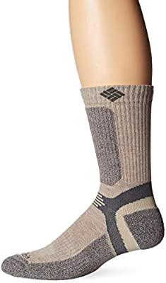 Columbia Men's Hike Crop Crew Sock, Khaki2, Large