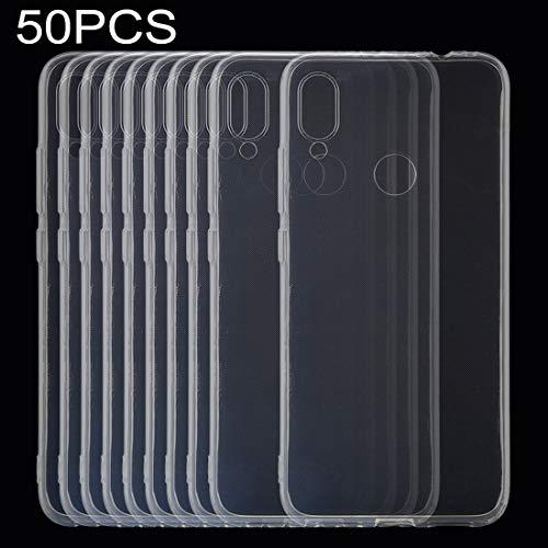 Zapasowa obudowa telefonu komórkowego, 50 sztuk Redmi Note 7 Telefon komórkowy 0,75 mm Ultra-cienki przezroczysty futerał ochronny TPU ...