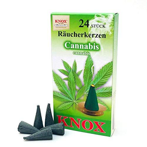 Knox Räucherkerzen Cannabis/HANF (2,8 cm / 24 Stück) DUFTERLEBNIS