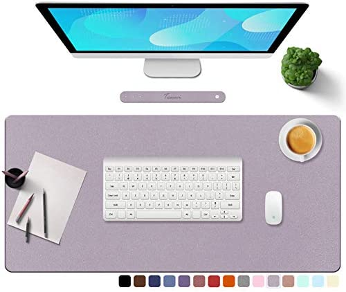 TOWWI PU Leather Desk Pad with Suede Base Multi Color Non Slip Mouse Pad 32 x 16 Waterproof product image