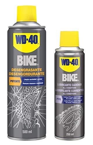 WD-40 Specialist Bike - Lote para Cuidado y Mantenimiento de Cadena de Bicicleta con Desengrasante de Cadenas 500Ml + Lubricante de Cadenas para Todas Condiciones 250Ml - Pack 2 Unidades