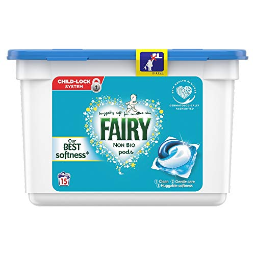 Fairy Non Bio Washing Liquid Laundry Detergent, 15 Pods