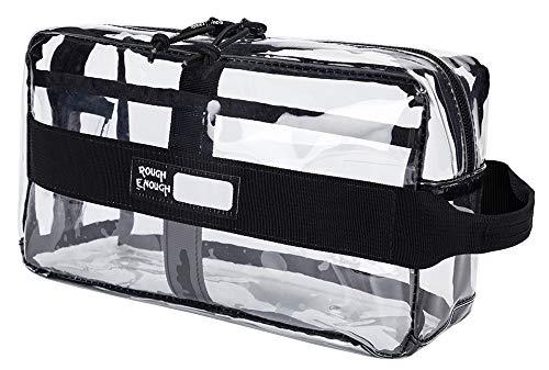 Rough Enough Multi-Funktion ECO transparent Fancy TSA genehmigt Carry auf Reisen ToilettenBeutel Clear Make-up-Organisator Speicher waschen kosmetische Accessoires...