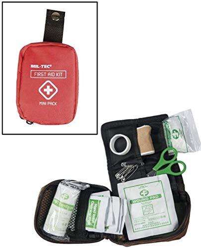 MINI TROUSSE DE SECOURS / FIRST AID PACK ROUGE 17 ACCESSOIRES MIL-TEC 16025810 AIRSOFT RANDONNEE BALLADE
