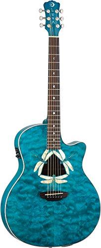 Luna Guitars FAU DF QM - Guitarra electroacústica