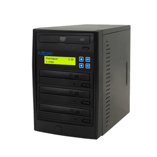 PlexCopier 24X SATA 1 to 3 CD DVD duplicator Writer Copier Tower (3 Target)