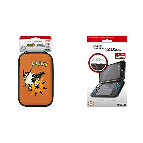 Hori - Funda Pokémon Ultrasol Y Ultraluna (New Nintendo 3DS XL) + Protector De Pantalla (New Nintendo 2DS XL)