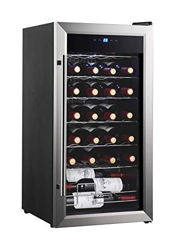 Kalamera 28 bottles Single Zone Wine Cooler Small wine fridg