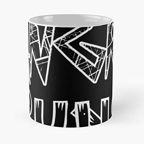 Nuevo negro barato enojado 2020 funciona tendencias mejor taza de café de cerámica de 11 oz