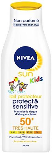 Nivea Sun Kids Lait Protecteur Protect et Sensitive FPS50+ 200 ml