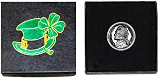 """My Lucky Coin – 1963 Jefferson Nickel – Gem Proof Condition – In a """"Luck of the Irish"""" Gift Box"""
