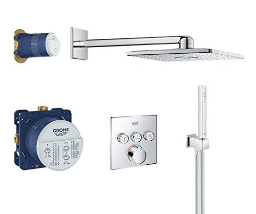GROHE SmartControl | Brause- & Duschsystem - Komplettset, inkl. Rapido SmartBox, Kopfbrause-Set, Handbrause u. Brauseschlauch | chrom | 34712000