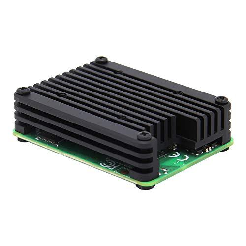 Geekworm Raspberry Pi Compute Modul 4 CM4 12 mm eingebetteter Aluminium-Kühlkörper / Kühler / Kühler / Schutzgehäuse unterstützt 30 mm Lüfter (C235)