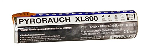 PYROWEB.DE Pyrorauch XL800 Weiß - Rauchpatrone/Jumbo Rauch