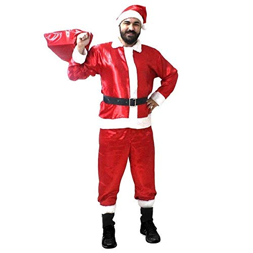 Fantasia de Papai Noel Cetim Luxo - Tamanho Único