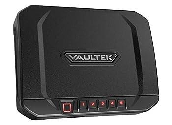 VAULTEK VT20i Biometric Handgun Safe Bluetooth Smart Pistol Safe with Auto-Open Lid and Rechargeable Battery  Covert Black
