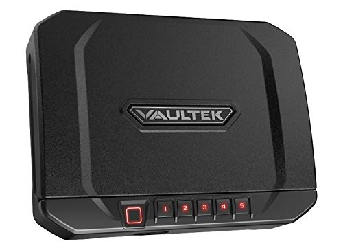 VAULTEK VT20i Biometric Handgun Safe Bluetooth Smart Pistol Safe with Auto-Open Lid and Rechargeable Battery (Covert Black)