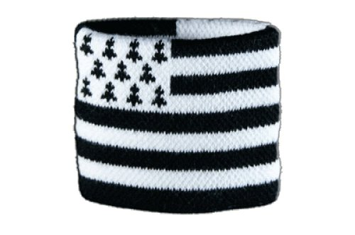Flaggenfritze Schweißband Motiv Fahne/Flagge Frankreich Bretagne + gratis Aufkleber
