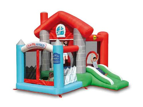 Action Air Happy House 9315 Inflatable Play Area with Toboggan