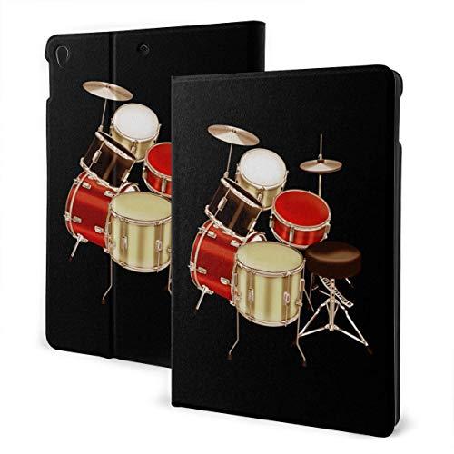 liusizheree Schlagzeug Set Gedruckt Case Hülle für iPad 10.2 Zoll 2019 7th Generation Dreifach Falt Klapp Schutzhülle Case Schutzhülle mit Ständer Funktion und Auto Schlafen/Wachen